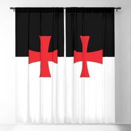 Knights Templar Flag Blackout Curtain