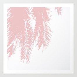 Palm Leaves - Powder Pink Art Print