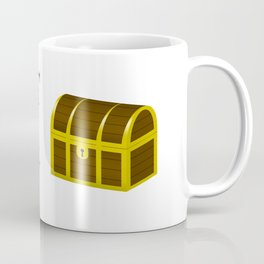 Don't look at my chest Coffee Mug