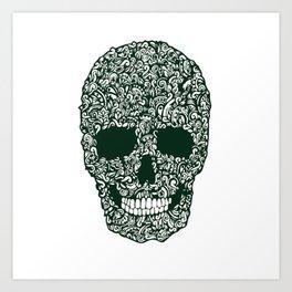 Moss Skull Art Print