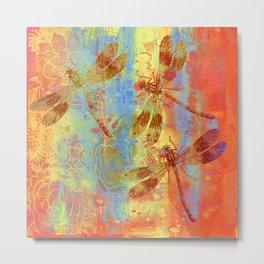 A Dragonflies QQW Metal Print