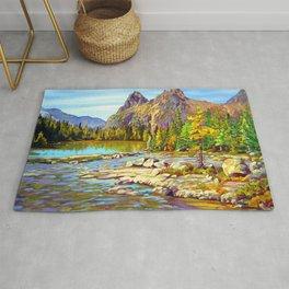 Lake O'Hara Holiday by Amanda Martinson Rug