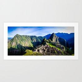 Machu Picchu First Light Art Print