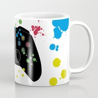 xbox Mugs featuring Controller Graffiti XBox One by AngoldArts