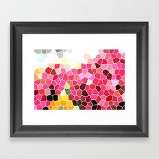 Pattern 5 - pink explosion Framed Art Print