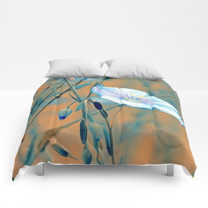 Flax (turquoise) Comforters