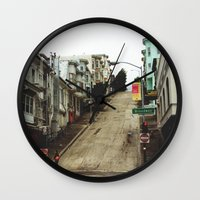 broadway Wall Clocks featuring Broadway by Laney Vela