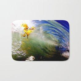 Backlit Kelp & Glassy Shorebreak Barrel Bath Mat