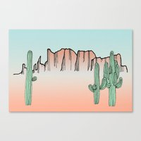 arizona Canvas Prints featuring Arizona by Mrs. Ciccoricco