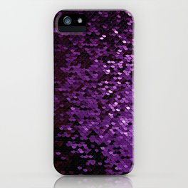 Purple Sequin iPhone Case
