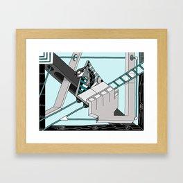 Triangle Slider Framed Art Print