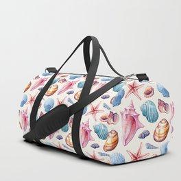 Seashells Pattern 1 - Colorful light Duffle Bag
