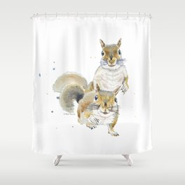 Two Squirrels Shower Curtain