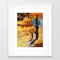 child Framed Art Prints featuring Child by Art Ground