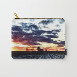 Eerie Sunset over the Country Field Carry-All Pouch