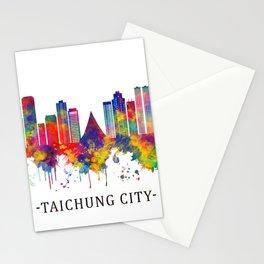 Taichung City Taiwan Skyline Stationery Cards