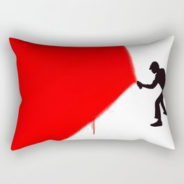 Paint The Town Red Rectangular Pillow
