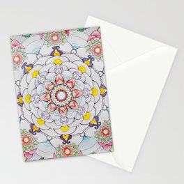 Winter to Spring Mandala Stationery Cards