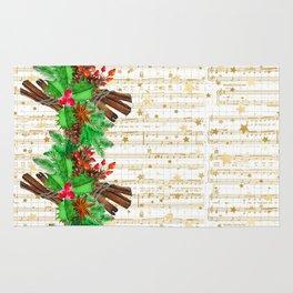 Christmas pine cones #3 Rug