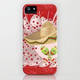 Sombrero and maracas iPhone Case