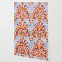 Floribunda Boho D in Periwinkle Wallpaper
