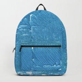Carolina blue abstract watercolor Backpack