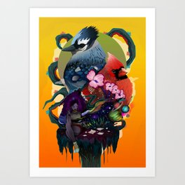 Space Between Two Worlds Art Print