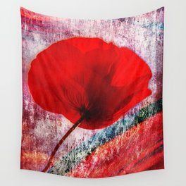 Red Poppy 157 Wall Tapestry