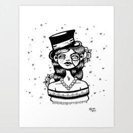 Top Hat Girl Art Print
