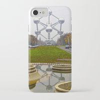 brussels iPhone & iPod Cases featuring Atomium Brussels Painted Photography by Premium