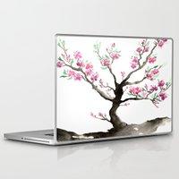 sakura Laptop & iPad Skins featuring Sakura by Brazen Edwards