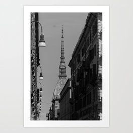 Beautiful view in the center of Turin Art Print