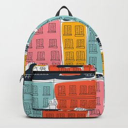 Cinque Terre Houses Backpack