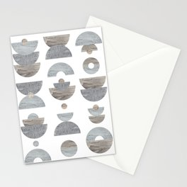 semicircle pattern Stationery Cards