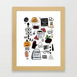 The Office doodles Framed Art Print