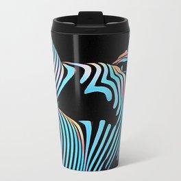 5143s-MAK Zebra Stripe Curves Sensual Female Body Art Travel Mug
