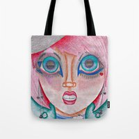 poker Tote Bags featuring poker face by Scenccentric Creations
