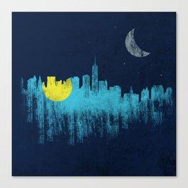 city that never sleeps Canvas Print