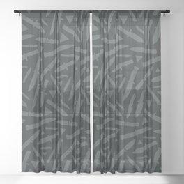 Survival Knives Pattern - Midnight Forest Sheer Curtain
