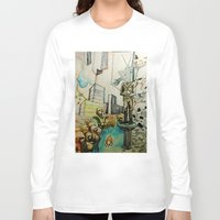 tv Long Sleeve T-shirts featuring TV  by Aaron M. Sutton