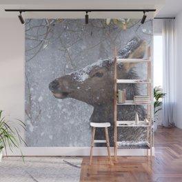 Watercolor Elk Cow 06, Estes Park, Colorado, Snow Nose Wall Mural