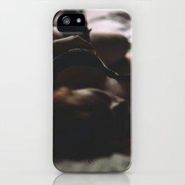 Hot sexy girl big cute breat in bed iPhone Case