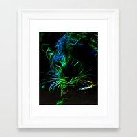 leopard Framed Art Prints featuring Leopard by Simone Gatterwe