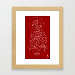 Red Buddha Framed Art Print