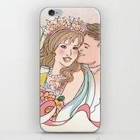 wedding iPhone & iPod Skins featuring Wedding by Andreia Treptow Illustrations
