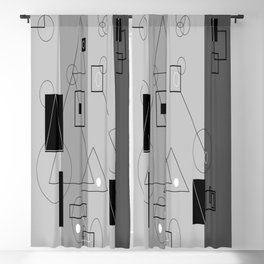 Gray Geometry 3 Blackout Curtain