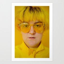 Jo in yellow Art Print