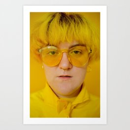 Jo in yellow Art Print