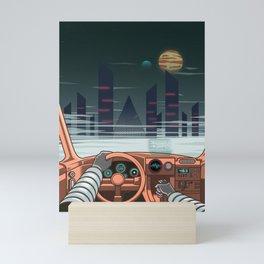 Night driver Mini Art Print