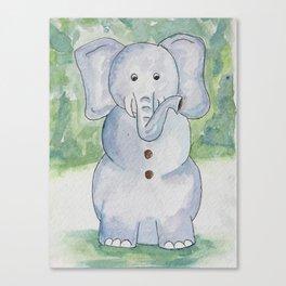 Snow Elephant Canvas Print